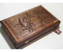 Carved backgammon Alexander