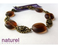 Czech glass beads brown bracelet