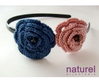 Blue and pink  Flower headband