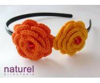 Orangde and Yellow Flower headband