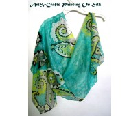 Hand Painted Silk Scarf #4
