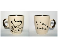 "Mug ""I love coffee"""