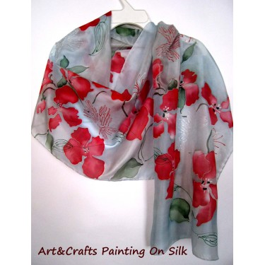Hand Painted Silk Scarf #6